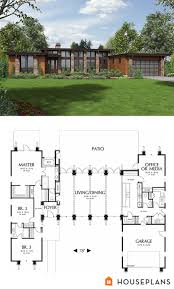 contemporary house floor plans modern style house plan 3 beds 2 50 baths 2557 sq ft plan 48 476