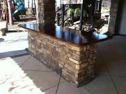 Jackson Kitchen Designs Outdoor Bar Island With Concrete Countertop Inside Amazing Jackson