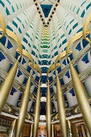 Interior Of Burj Al Arab United Arab Emirates Dubai Burj Al Arab Interior Of Lobby