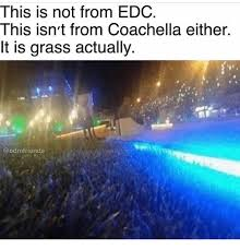 Edc Meme - this is not from edc this isn t from coachella either it is grass