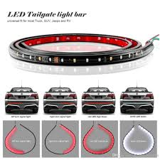 60 inch led light bar 22w 49inch 60inch flexible led car truck tailgate light bar red and
