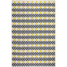 Yellow Indoor Outdoor Rug Yellow And Gray Rug Twined Rug Yellow Gray And White Yellow And
