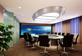 solutions of meeting room with large screen lcd splicing