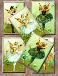 decoupage paper and collage sheets original tissue vintage fairies