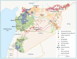 Map Of Syria And Surrounding Countries by Syria Fanack Energy