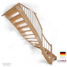 luxholm treppen preise holztreppe nach maß mit geländer und 4tel wendung massiv und