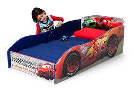 car toddler bed frame child wood disney pixar cars lightning