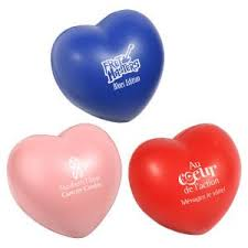 heart shaped items custom printed heart shaped promotional items