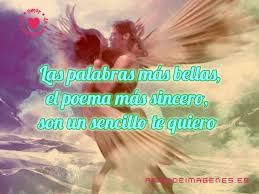 imagenes de amor con bellas palabras angelitos enamorados con frases de amor