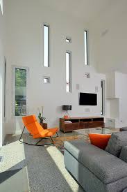 Accent Chairs For Living Room Contemporary Orange Accent Chair Living Room Contemporary With Area Rug