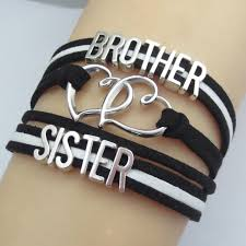 link bracelet charms images Fashion infinity brother and sister bracelets best brother 39 s love jpg