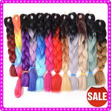 ombre kanekalon braiding hair drawn braid colorful pencil and in color drawn braid colorful