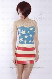 Flag Suit Rubber Gummi 45mm Flag Dress Skirt Strapless Suit Customize