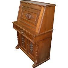 antique victorian walnut slant top secretary desk from