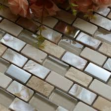Stone Mosaic Tile Kitchen Backsplash by Glass Shell Mosaic Kitchen Backsplash Tile Glass Wall Tiles