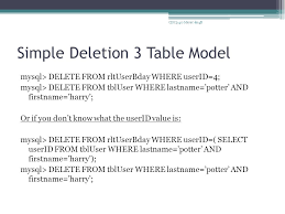 Mysql Delete From Table Cisc 3140 Cis 20 2 Design U0026 Implementation Of Software