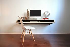 Modern Wall Desk Minimal Wall Desk Walnut Large Pull Out Shelf Ideal For