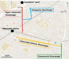 Shinagawa Station Map 4 Shoutengai Around Hatanodai 旗の台 Shinagawa Ku Guidable