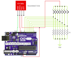 remote controller for a seven segment display using rf 433 92 mhz
