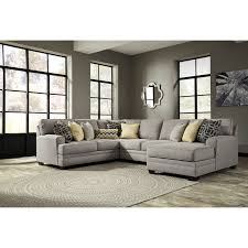 Benchcraft by Ashley Cresson Contemporary 4 Piece Sectional with