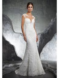 hem wedding dress mori 5612 kaylin low back dress with lace hem ivory