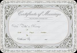wedding certificates templates marriage certificate certificates