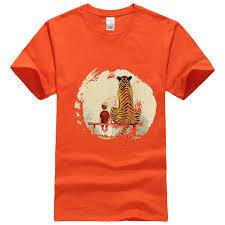 Bench Mens T Shirts Aliexpress Com Buy Calvin And Hobbes Thomas Tiger Bench Mens T