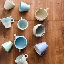 sajiva ceramics mint slim medium coffee cup no handle