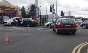 multi vehicle crash after u0027police chase u0027 in pontarddulais south