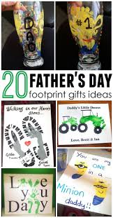 father u0027s day footprint gift ideas from the kids gift crafts