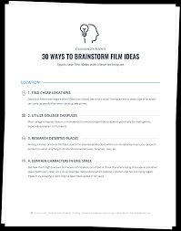 unit 6 resources themes in american stories 30 ways to brainstorm short film ideas you can actually produce