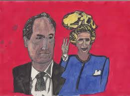 charles moore cartoon against charles moore of the times and maggie thatcher