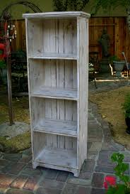 Small Rustic Bookcase Wooden Shelf Rustic Shabby Furniture Storage Shelves Solid