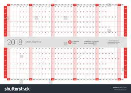 yearly wall calendar planner template 2017 stock vector 605413850