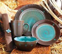 brown and turquoise kitchen decor monarch dinnerware collection