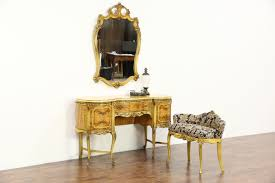 Antique Vanity With Mirror And Bench - sold satinwood u0026 hand painted 1940 vintage dressing table or