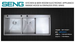Large Kitchen Sinks Stainless Steel Deep Bowl Sink With Drainer - Large kitchen sinks stainless steel