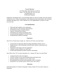 Core Qualifications Examples For Resume by Retail Sales Management Sample Resume Create My Cover Letter