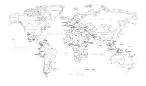 world map black and white with country names pdf world map white and black madrat co
