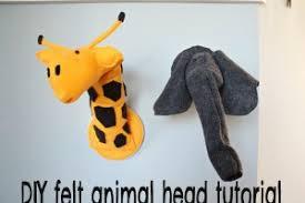 diy nursery art series felt giraffe elephant heads babycenter