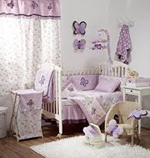Girls Bedding Purple by Amazon Com Butterfly Purple Crib Baby Bedding Sets Crib