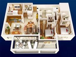 Floor Plans 3d 3 Floor Plan Layout In 3d