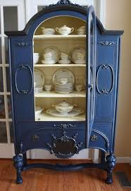 painted vintage china cabinet hometalk