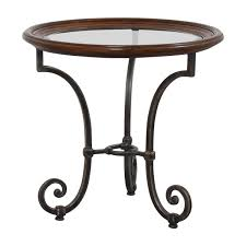 Ethan Allen Side Table 42 Off Ethan Allen Ethan Allen Glass Side Table Tables