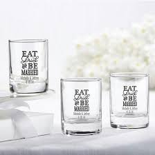 personalized glasses wedding personalized glass favors eat drink be married wedding