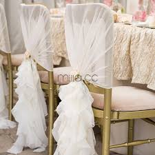 fancy chair covers fancy white blush pink chiffon ruffled wedding chair covers chair