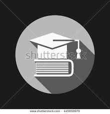 book for high school graduate graduate hat on book icon teachings stock vector 294306170