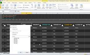 Excel Issue Tracking Template Project Issue Tracker Template For Excel