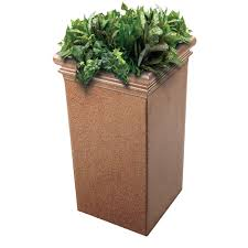 33 inch tall stone planter for indoor and outdoor use