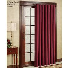 Curtains On Sliding Doors Decorating Maroon Curtains For Glass Sliding Door With Brown